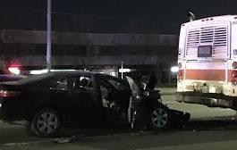 وفاة رجل نتيجة اصطدام سيارته بحافلة نقل في ميسيساكا