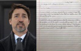طفل 8 سنوات يرسل رسالة الى ترودو ليطمأن عليه وعلى زوجته..!!