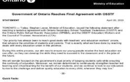 واخيرا... اتفاق معلمو المدارس الثانوية مع حكومة اونتاريو ينهي شهورا من الاضرابات المتكررة