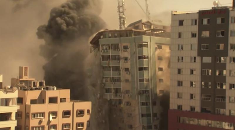 Israel strike in Gaza destroys building with AP, other media
